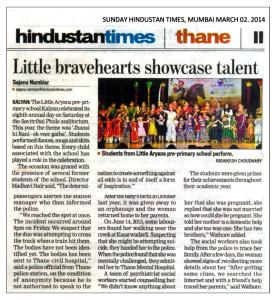 Little Aryans in Hindustan Times