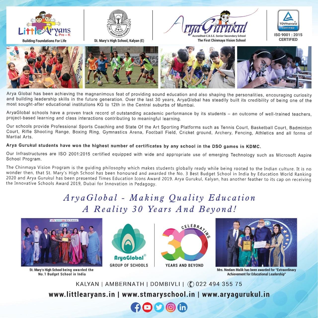 Best Preschool in Mumbai, Kalyan - Little Aryans